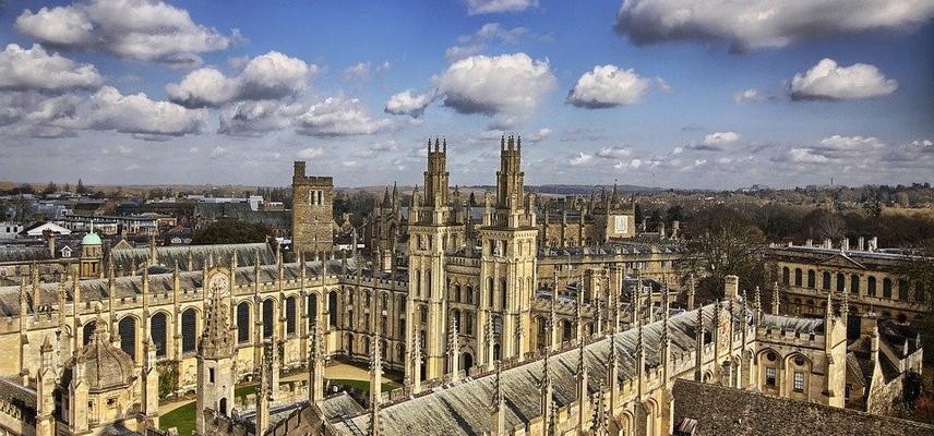Oxford spires stock photo